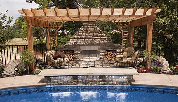 Backyard Pergola With Swimming Pool