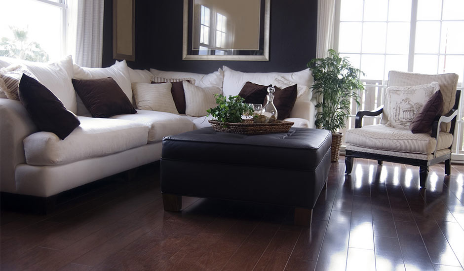 Gallery of flooring ideas trusted home contractors for Living room ideas oak flooring