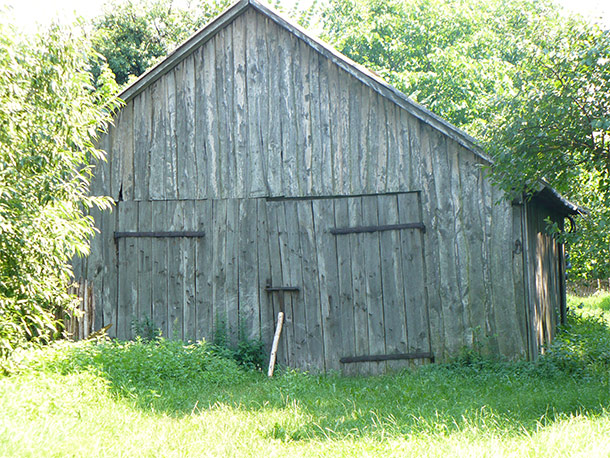 Old barn with reclaimed wood